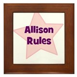 Allison Rules Framed Tile