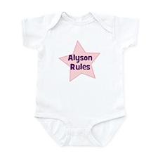 Alyson Rules Infant Bodysuit