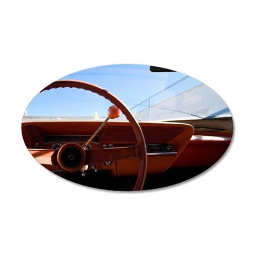 Steering wheel 35x21 Oval Wall Decal