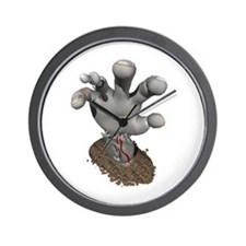 Zombie Hand Reaching Out Wall Clock