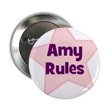 "Amy Rules 2.25"" Button (10 pack)"