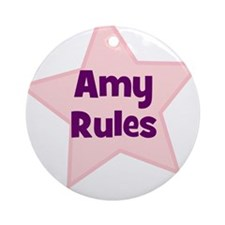 Amy Rules Ornament (Round)