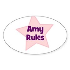 Amy Rules Oval Decal