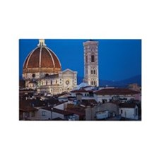 City rooftops and the Duomo Santa Rectangle Magnet