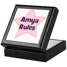 Amya Rules Keepsake Box