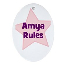 Amya Rules Oval Ornament