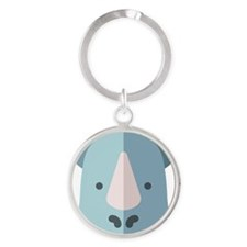 Close Up of Cat's Mouth Oval Keychain