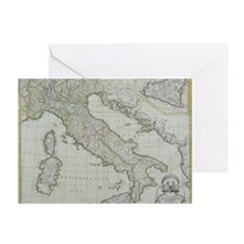 Map of Italy Greeting Cards (Pk of 20)