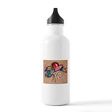 Heart Banner Water Bottle