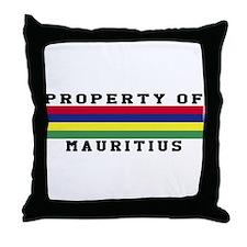Property Of Mauritius Throw Pillow