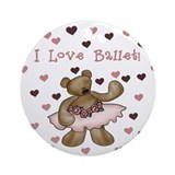 Ballerina Bear Ornament (Round)