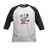 Flower Pot with Butterflies Tee