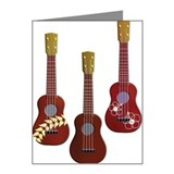 Three Ukuleles, Painting, Il Note Cards (Pk of 10)