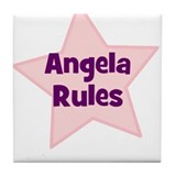 Angela Rules Tile Coaster