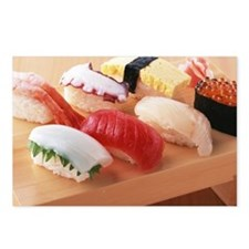 Selection of sushi Postcards (Package of 8)