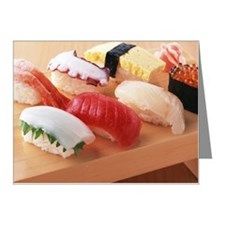 Selection of sushi Note Cards (Pk of 10)