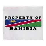 Property Of Namibia Throw Blanket