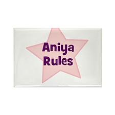 Aniya Rules Rectangle Magnet