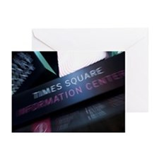 Times Square Information Greeting Cards (Pk of 20)