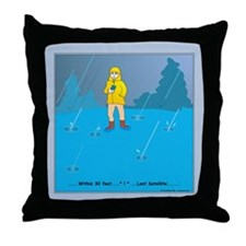 Rain Geocacher Throw Pillow