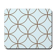 Retro Circles Print Mousepad