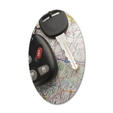 Closeup of car keys and map Wall Decal