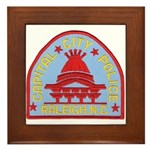 Raleigh Police Framed Tile