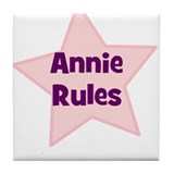 Annie Rules Tile Coaster