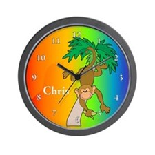 Cute Kids rainforest Wall Clock