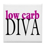 Low Carb Diva Tile Coaster