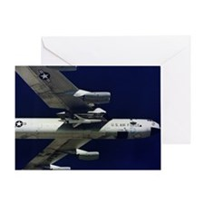 Low angle view of a B52 Mothership i Greeting Card