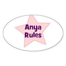 Anya Rules Oval Decal