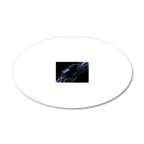 Electric Car 20x12 Oval Wall Decal