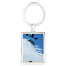 Man snow skiing Portrait Keychain