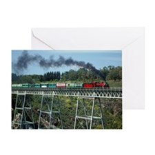 Apple Express Crossing Bridge Greeting Card