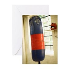 Punching bag near gym wi Greeting Cards (Pk of 10)