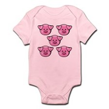 Cute Pink Pigs Infant Bodysuit