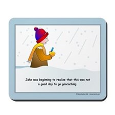 Snow Geocaching Mousepad