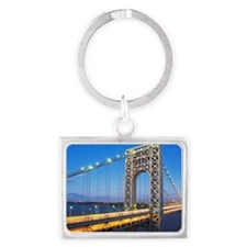 George Washington Bridge Landscape Keychain