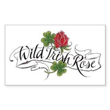 Wild Irish Rose Rectangle Decal