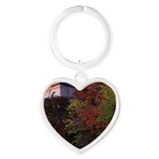 Low angle view of trees in front of Heart Keychain