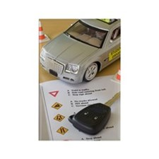 Toy car, car key, and driver's li Rectangle Magnet