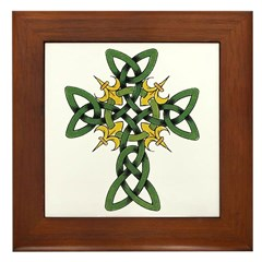 Irish Cross Framed Tile