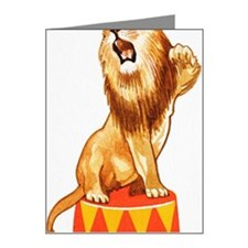 Panthera leo, Lion sitting o Note Cards (Pk of 20)
