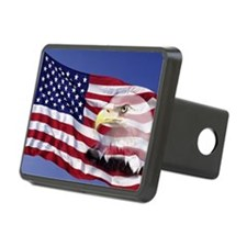 This is an American flag w Hitch Cover