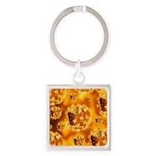 HIV virus particles Square Keychain