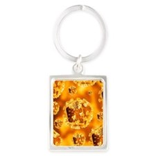 HIV virus particles Portrait Keychain