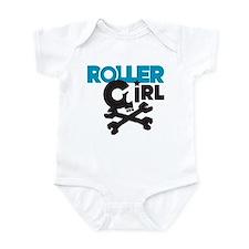 Rollergirl Skull Logo Blue Infant Bodysuit