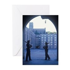 """""""Two Cadets Patrolling,  Greeting Cards (Pk of 10)"""