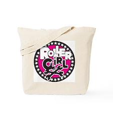 Rollergirl Skull Circle Pink Tote Bag